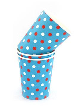 Polkadot Multi Blue Cups