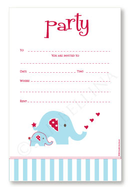 Elephant Invitations