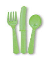 Lime Green 24 Pack Cutlery