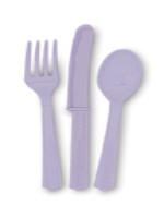 Lavender 24 Pack Cutlery