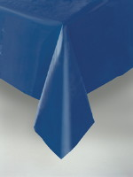Navy Plastic Tablecover