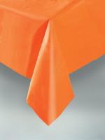 Pumpkin Orange Plastic Tablecover