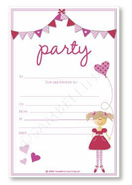 Pink Bunting Invitation