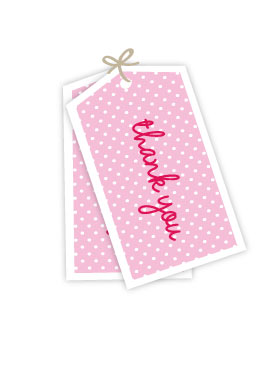 Pink Thanks Gift Tags