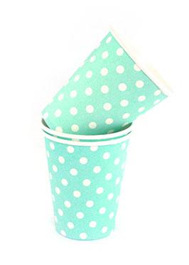 Polkadot Blue Cups