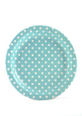 Polkadot Blue Plates