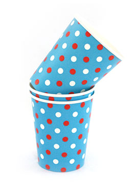 Polkadot Multi Blue Cups