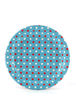 Polkadot Multi Blue Plates