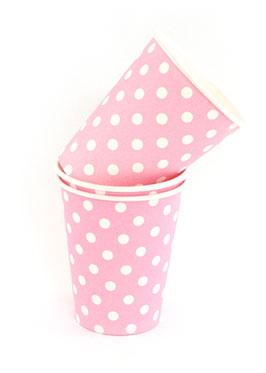 Polkadot Pink Cups