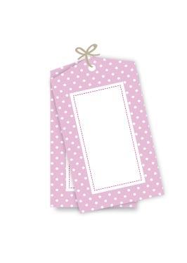 Polkadot Pink Gift Tags (Sambellina) 12 pack