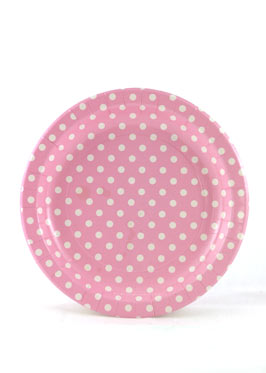 Polkadot Pink Plates