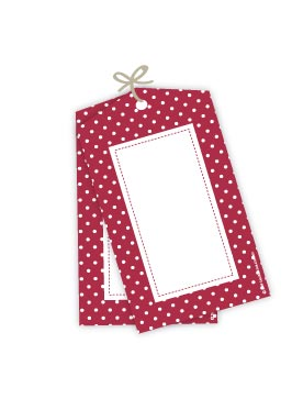 Polkadot Red Gift Tags