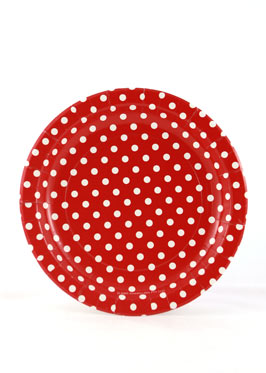 Polkdot Red Plates