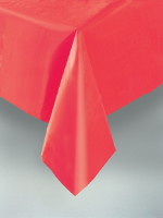 Red Plastic Tablecover