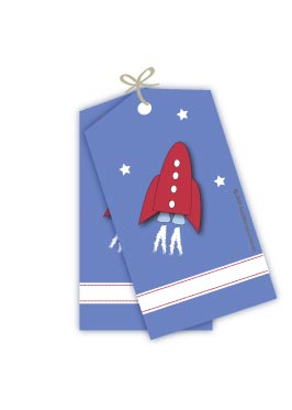 Space Rocket Gift Tags