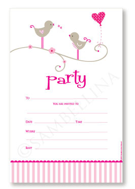 Sweet Tweet Invitations Boutique