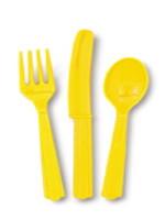 Sunflower Yellow 24 Pack Cutlery