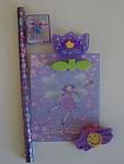 Fairy Nice 5 Piece Stationery Set - Purple
