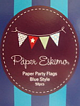 Paper Eskimo Paper Party Flags - Blue