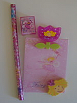 Fairy Nice 5 Piece Stationery Set - Pink