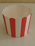 Paper Eskimo Baking Cups - Red Stripes