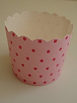 Paper Eskimo Baking Cups - Pink Spot